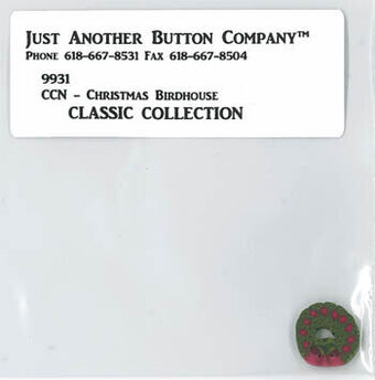 Christmas Birdhouse - Buttons