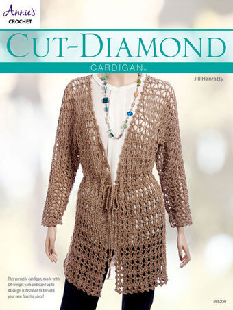 Cut Diamond Cardigan - Crochet Pattern