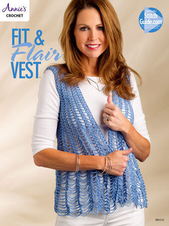 Fit & Flair Vest - Crochet Pattern