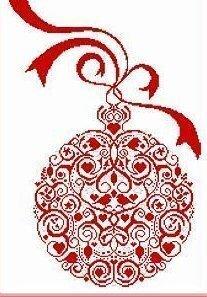 cardinal christmas ball cross stitch pattern - Free Christmas Cross Stitch Patterns