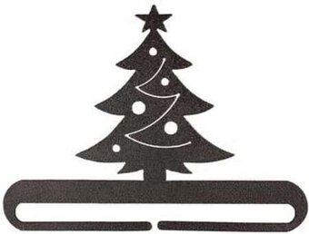 "6"" Christmas Tree Split Bottom Charcoal"