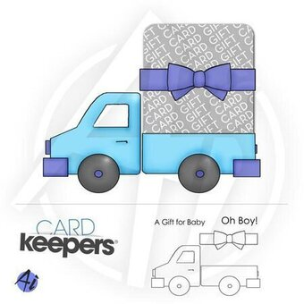 Toy Truck Keeper - Unmounted Rubber Stamp