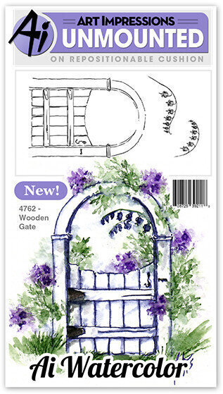 Wooden Gate - Unmounted Rubber Stamp