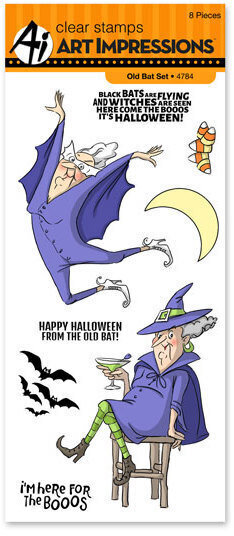 Old Bat Halloween Clear Stamp Set