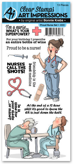 Proud Nurse Clear Stamp Set