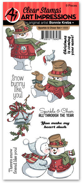 Art Impressions Seasons Greetings Rubber Stamp