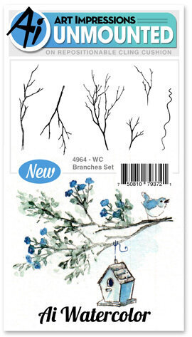 Watercolor Branches - Cling Stamp Set