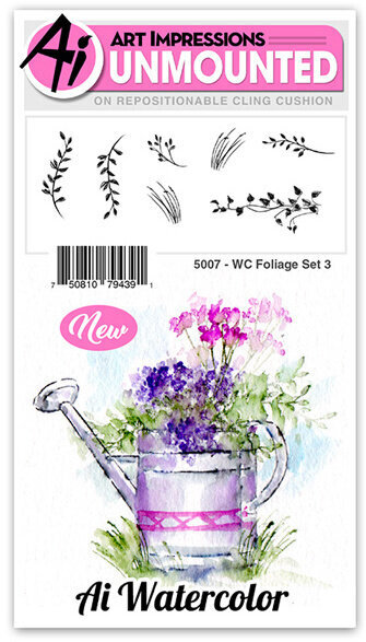 Watercolor Foliage Set 3 - Cling Stamp