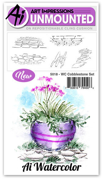 Watercolor Cobblestone Set - Cling Stamp