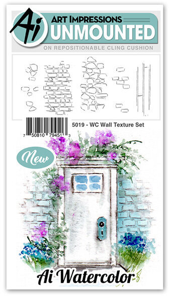 Watercolor Wall Texture Set - Cling Stamp