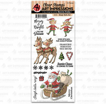 Sleigh Bells - Christmas Clear Stamp Set