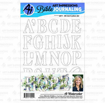 Watercolor Serif Letters - Clear Stamp Set