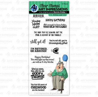 Birthday Laugh Lines - Clear Stamp Set