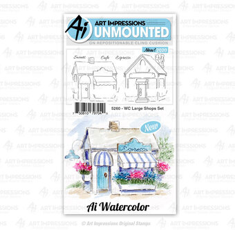 Watercolor Large Shops Set - Clear Stamp