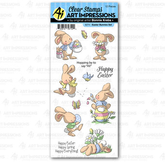 Easter Bunnies Set - Clear Stamp