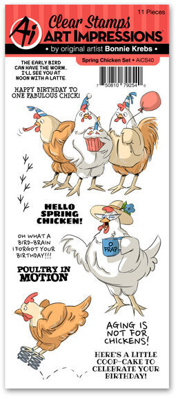 Spring Chicken Clear Stamp Set