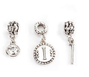 Mix and Mingle Alphabet Charms - Letter I - Silver