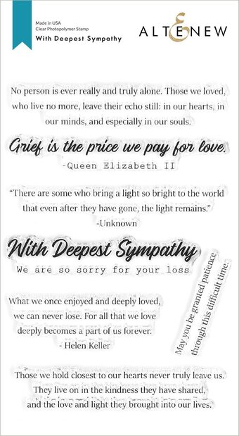 With Deepest Sympathy - Clear Stamp Set
