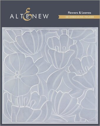 Flowers and Leaves - 3D Embossing Folder