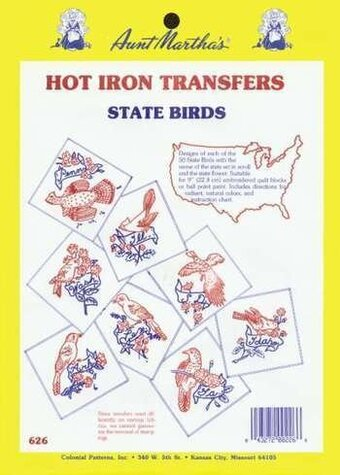 State Birds, All 50 States - Iron On Transfers