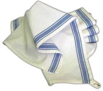 Vintage Blue Stripe Towels - 3 pack