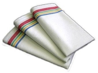 Vintage Multi Stripe Towels - 3 pack