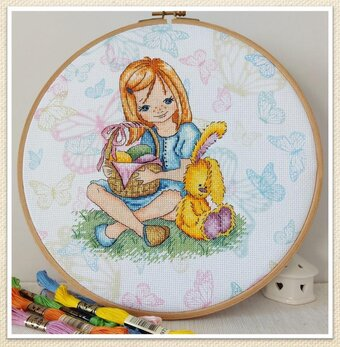 Easter Egg Hunter - Cross Stitch Pattern