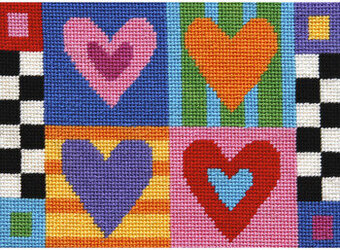 Hugs & Kisses - Needlepoint Kit