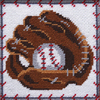Baseball Glove - Needlepoint Kit
