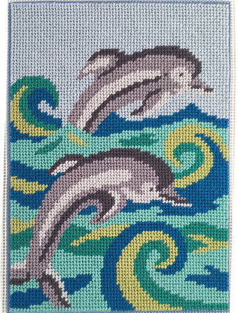 Dolphins - Canoodles Needlepoint Kit