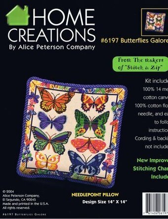 Butterflies Galore Pillow - Needlepoint Kit