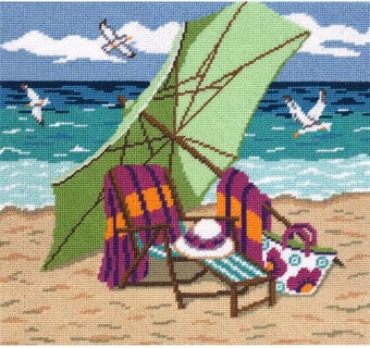 Bluebirds and Morning Glories - Needlepoint Kit