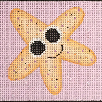 Starfish - Painted Needlepoint Canvas