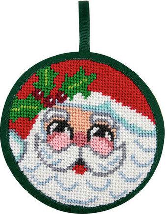Santa Face Christmas Ornament Needlepoint Kit