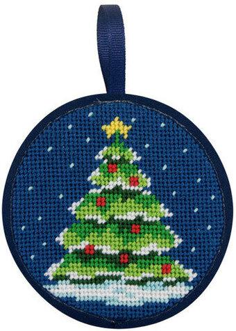 Christmas Tree Christmas Ornament - Needlepoint Kit - Alice Peterson Christmas Tree Christmas Ornament - Needlepoint Kit
