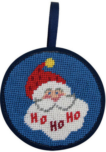 Ho Ho Ho Santa Christmas Ornament - Needlepoint Kit