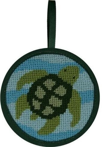 Turtle Christmas Ornament - Needlepoint Kit