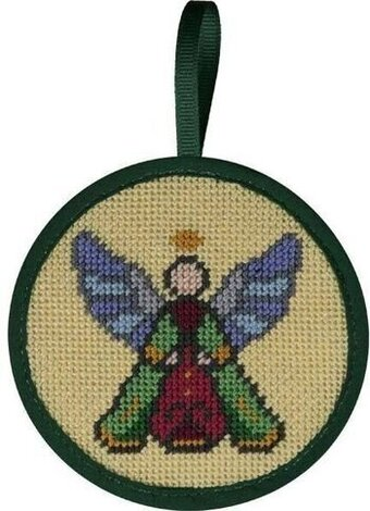 Stained Glass Angel Christmas Ornament - Needlepoint Kit