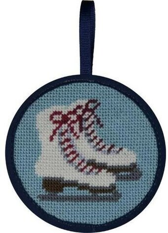 Ice Skates Christmas Ornament - Needlepoint Kit