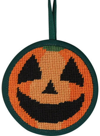 Pumpkin Halloween Ornament - Needlepoint Kit