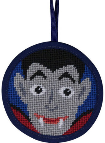 Dracula Halloween Ornament - Needlepoint Kit