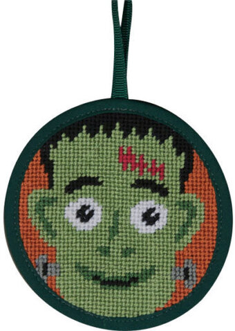 Frankenstein Halloween Ornament - Needlepoint Kit