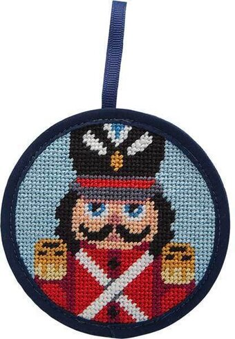 Nutcracker Soldier Christmas Ornament - Needlepoint Kit