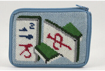 Coin Purse - Mah Jong - Needlepoint Kit