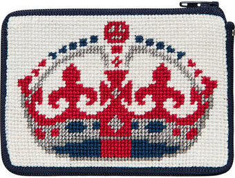 Coin Purse - English Crown - Needlepoint Kit