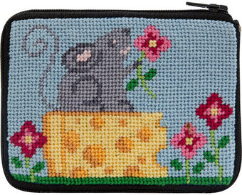 Coin Purse - Mouse and Cheese - Needlepoint Kit
