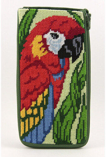 Eyeglass Case - Parrot - Needlepoint Kit
