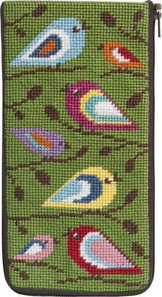 Eyeglass Case - Birds Of Color - Needlepoint Kit