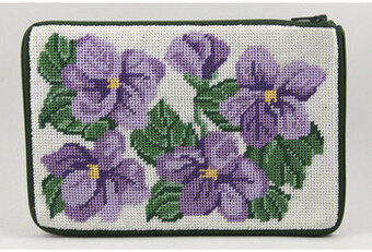 Cosmetic Purse - Sweet Violets - Needlepoint Kit