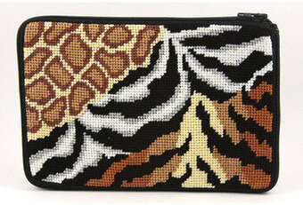 Cosmetic Purse - Animal Skins - Needlepoint Kit